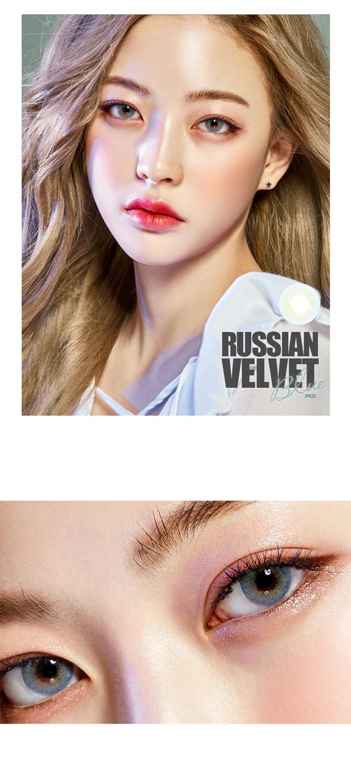 O-Lens ] Russian Velvet - Blue (1monthly / 2pcs)